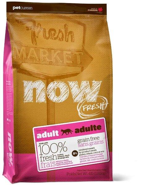 Сухой корм NOW Fresh Adult беззерновой для взрослых кошек с индейкой, уткой и овощами