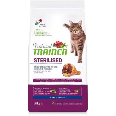 Сухой корм Trainer Natural Cat Adult Sterilised с сыровяленой ветчиной для стерилизованных кошек