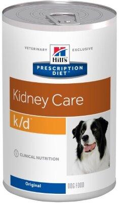 Консервы для собак Hill's Prescription Diet k/d с курицей для лечения заболеваний почек, 12шт x 370г