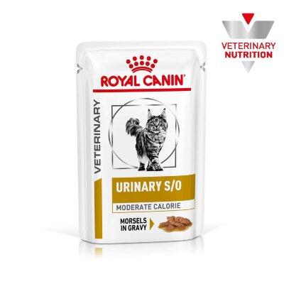 Паучи Royal Canin Urinary Moderate Calorie для кошек при моче-каменной болезни и склонности к лишнему весу