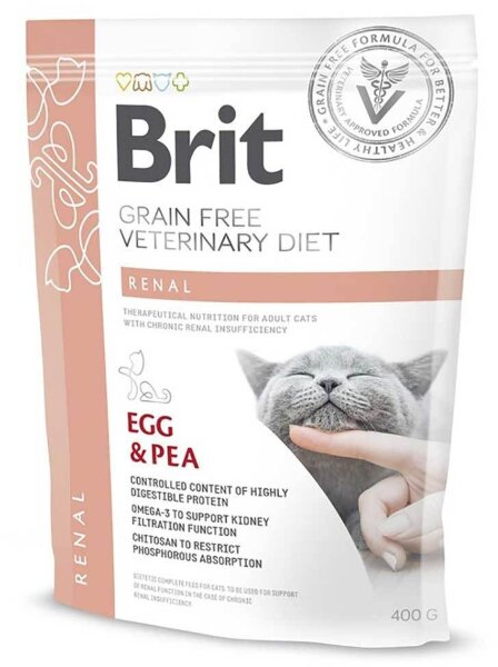 Сухой корм Brit Veterinary Diet Cat Grain free Renal беззерновой, при хронической почечной недостаточности