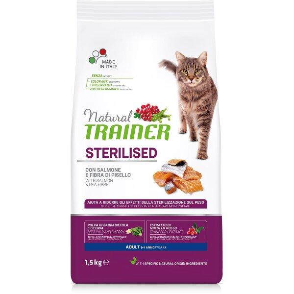 Сухой корм Trainer Natural Cat Adult Sterilised с лососем для стерилизованных кошек
