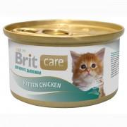 Консервы суперпремиум класса для котят BRIT Care Цыпленок