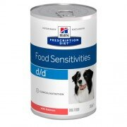 Консервы для собак Hill's Prescription Diet d/d с лососем при проблемах с кожей и пищевой аллергии, 12шт x 370г