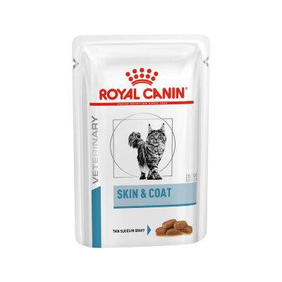 Паучи Royal Canin Veterinary Diet Skin & Coat для стерилизованных кошек с чувствительной кожей и шерстью, 85г