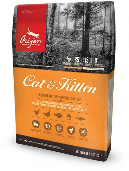 Сухой корм для котят и кошек всех возрастов Orijen Cat & Kitten 85/15