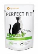 Паучи Perfect fit senior 8+ рагу с курицей для пожилых кошек, 85 г