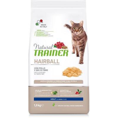 Сухой корм Trainer Natural Cat Hairball Adult для кошек против образования комков шерсти