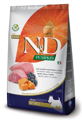 Сухой корм Farmina N&D Pumpkin Lamb&Blueberry Adult Mini беззерновой для взрослых собак мелких пород с ягненком, тыквой и черникой