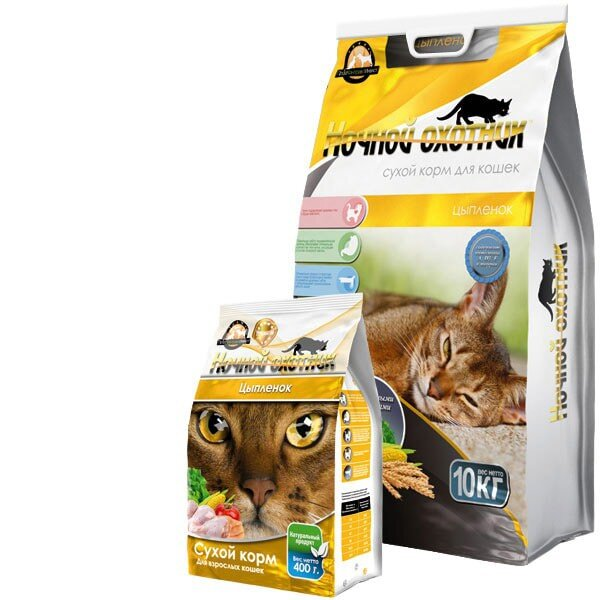 Сухой корм для кошек Ночной охотник Цыпленок