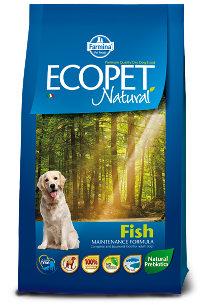 Сухой корм Farmina Ecopet Natural Fish Medium для взрослых собак средних пород, с рыбой