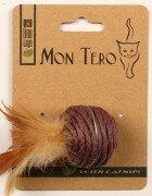 Игрушка для кошек Mon Tero Eco Шар с кошачьей мятой фиолетовый, 5см