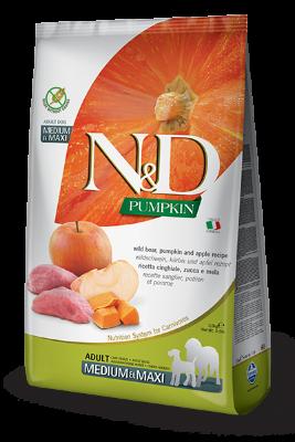 Сухой корм Farmina N&D Pumpkin Boar&Apple Adult Medium&Maxi беззерновой для собак средних и крупных пород с кабаном, тыквой и яблоком
