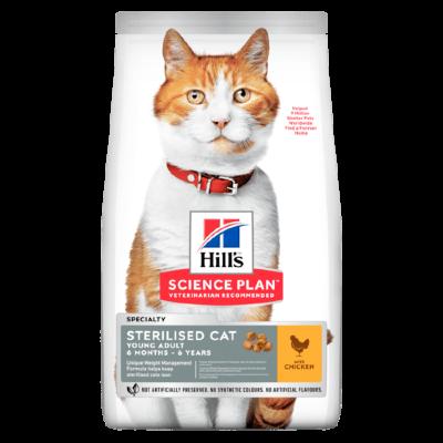 Сухой корм Hill's Science Plan для стерилизованных кошек в возрасте 6 месяцев - 6 лет, с курицей