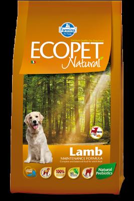 Сухой корм Farmina Ecopet Natural Lamb Mini для взрослых собак мелких пород, с ягненком