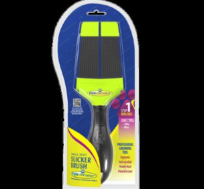 FURminator Пуходерка мягкая маленькая двухсторонняя Small Soft Slicker зубцы 15мм