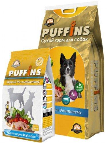 Сухой корм для собак «PUFFINS» Курица по-домашнему