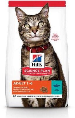 Сухой корм Hill's Science Plan для взрослых кошек, с тунцом