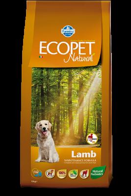 Сухой корм Farmina Ecopet Natural Lamb Maxi для взрослых собак крупных пород с проблемами пищеварения и аллергией, с ягненком
