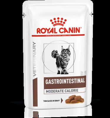 Паучи Royal Canin Gastro Intestinal Moderate Calorie для кошек при нарушениях пищеварения, 85г