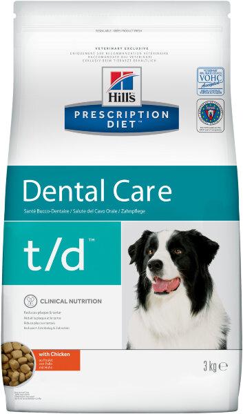 Сухой корм Hill's Prescription Diet t/d для лечения заболеваний полости рта у собак, 3кг