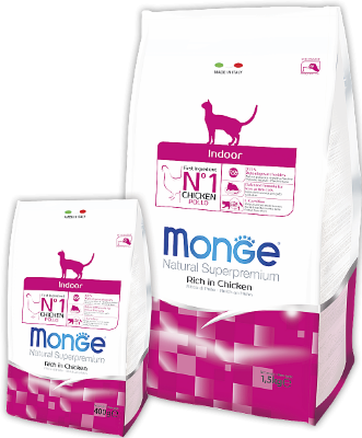 Сухой корм Monge Cat Indoor для домашних кошек