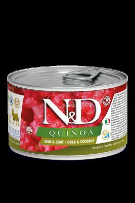 Консервы Farmina N&D Quinoa Skin&Coat Duck для взрослых собак, кожа и шерсть, с уткой