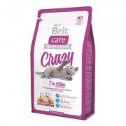 Гипоаллергенный cухой корм Brit Care Cat Crazy Kitten для котят, беременных и кормящих кошек