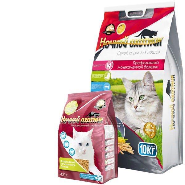 Сухой корм для кошек Ночной охотник Профилактика мочекаменной болезни
