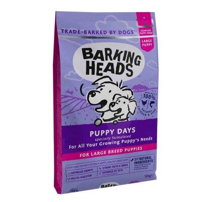 """Сухой корм Barking Heads для щенков крупных пород с курицей, лососем и рисом """"Щенячьи деньки"""""""