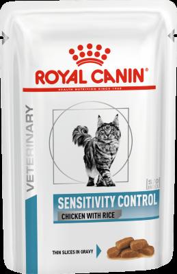 Паучи Royal Canin Sensitivity Control для кошек при пищевой аллергии, непереносимости, 85г