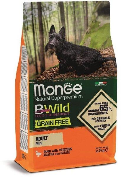 Сухой корм Monge Dog Grain Free Mini беззерновой для собак мелких пород, 2.5кг