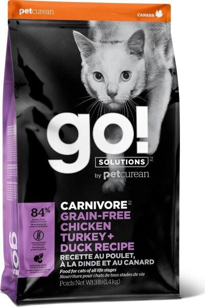 Сухой корм для котят и кошек GO! Fit+Free беззерновой, 4 вида Мяса: Курица, Индейка, Утка и Лосось