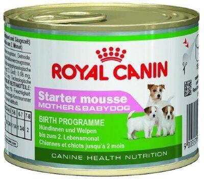Консервы Royal Canin Starter Mousse для сук и щенков до 2 мес., 195 г