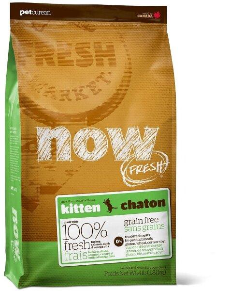 Сухой корм NOW Fresh Kitten беззерновой для котят с индейкой, уткой и овощами
