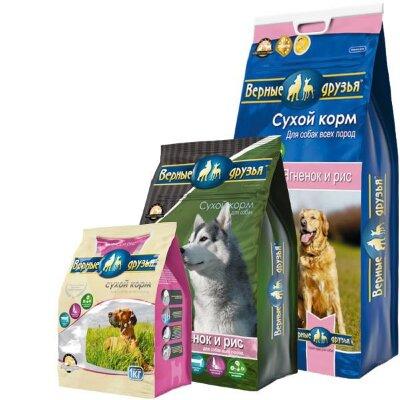 Сухой корм Верные друзья для взрослых собак всех пород с ягненком и рисом