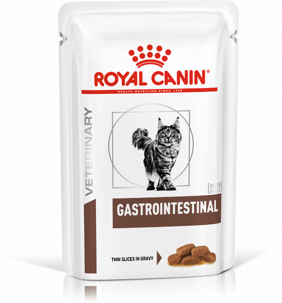 Паучи Royal Canin Gastro Intestinal для кошек при нарушениях пищеварения, 100 г