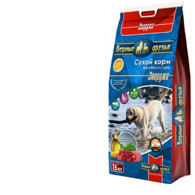 Сухой корм Верные друзья для активных и служебных собак, 15кг