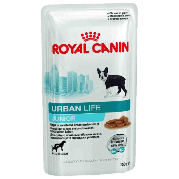 Паучи Royal Canin Urban Life Junior для щенков, живущих в городских условиях, в соусе 150 г
