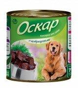 Консервы Оскар для собак с потрошками, 750 г
