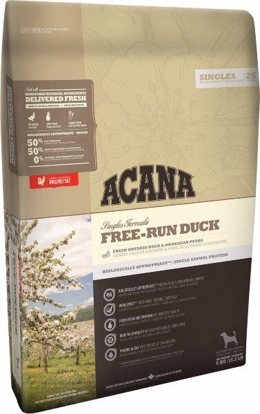 Сухой корм для собак всех пород и возрастов Acana Singles Free-Run Duck, беззерновой, с уткой