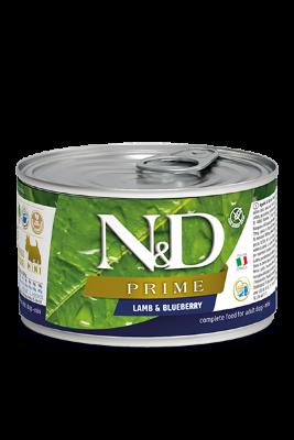 Консервы Farmina N&D Prime Adult для взрослых собак. Ягненок и черника