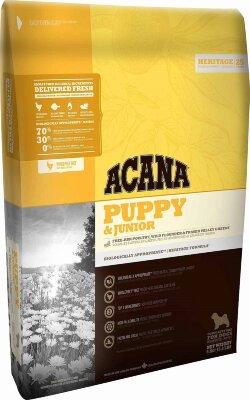 Сухой корм для щенков и юниоров Acana Heritage & Junior (70/30/0)