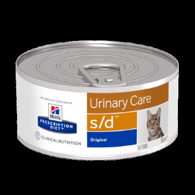Консервы Hill's Prescription Diet s/d для лечения МКБ и струвитов для кошек, 24шт x 156г