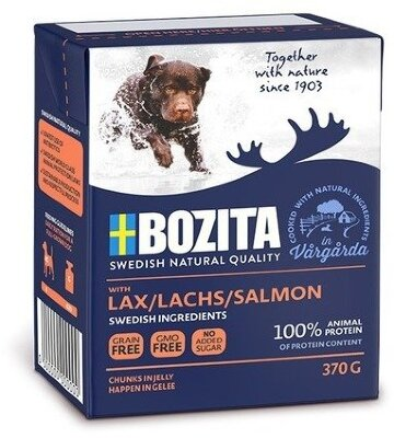 Консервы Bozita Naturals Salmon для собак Кусочки в желе с Лососем