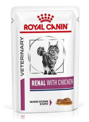 Паучи Royal Canin Renal для кошек при хронической почечной недостаточности (с курицей), 85г