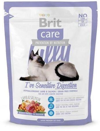 Сухой корм Brit Care Cat Lilly Sensitive Digestion беззерновой для кошек с чувствительным пищеварением