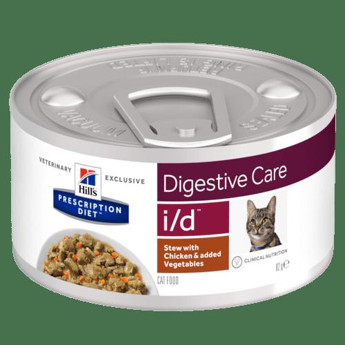 Консервы для кошек Hill's Prescription Diet i/d при заболеваниях ЖКТ, Рагу с курицей и овощами, 24шт x 82г