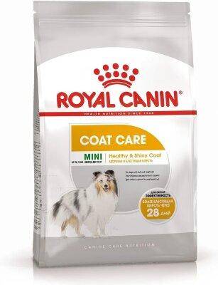 Сухой корм Royal Canin Mini Coat Care для собак с тусклой и сухой шерстью