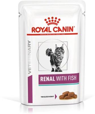Паучи Royal Canin Renal для кошек при хронической почечной недостаточности (с рыбой), 85 г